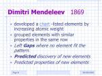 dimitri mendeleev 1869