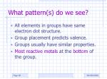what pattern s do we see