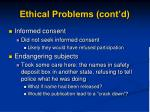 ethical problems cont d