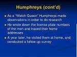 humphreys cont d