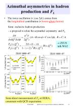 azimuthal asymmetries in hadron production and f l