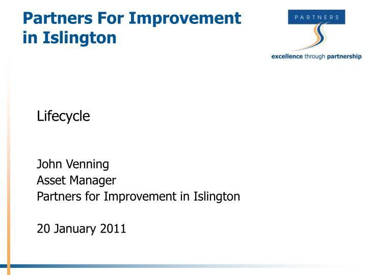 partners for improvement in islington n.