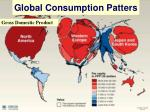 global consumption patters