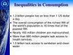 inequalities in consumption