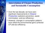 interrelation of cleaner production and sustainable consumption