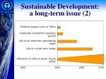 sustainable development a long term issue 2