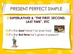 present perfect simple2