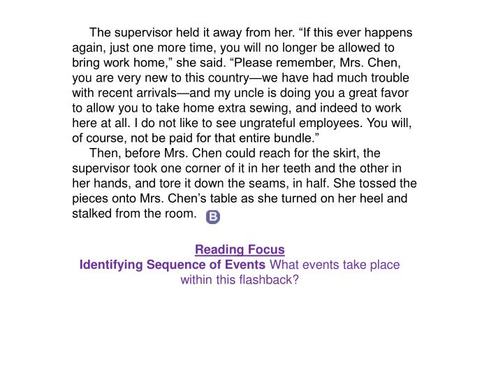 """The supervisor held it away from her. """"If this ever happens again, just one more time, you wi..."""