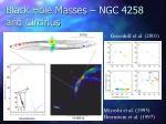 black hole masses ngc 4258 and circinus