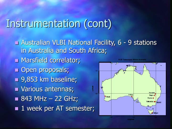 Instrumentation (cont)