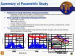 summary of parametric study