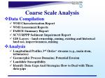 coarse scale analysis
