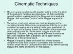 cinematic techniques