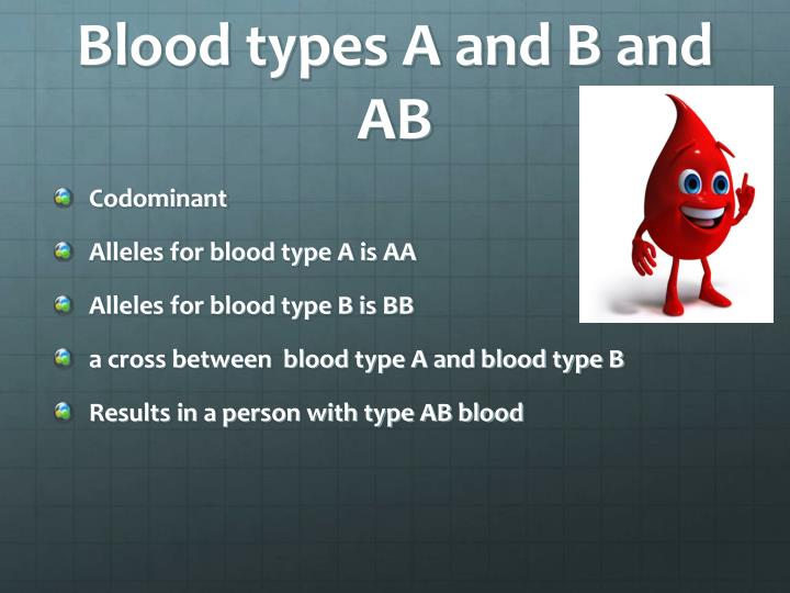 Blood types A and B and AB