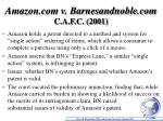 amazon com v barnesandnoble com c a f c 2001