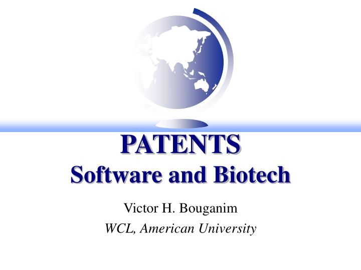 patents software and biotech n.