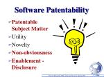 software patentability
