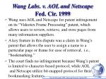 wang labs v aol and netscape fed cir 1999
