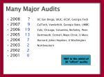 many major audits