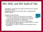 nih dod and nsf audit of yale