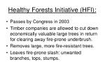 healthy forests initiative hfi