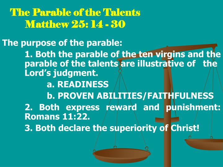 the parable of the talents matthew 25 14 30 n.