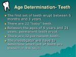 age determination teeth