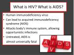 what is hiv what is aids