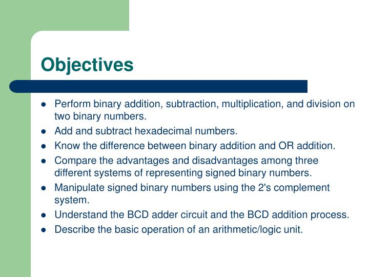 advantages of binary number system