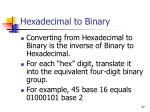 hexadecimal to binary