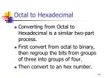 octal to hexadecimal