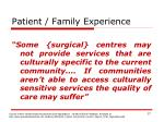 patient family experience