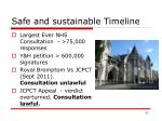 safe and sustainable timeline