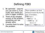 defining fibo