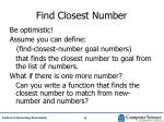 find closest number