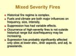 mixed severity fires