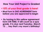 how your sae project is graded