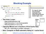 blocking example