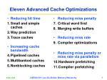 eleven advanced cache optimizations
