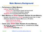 main memory background