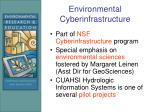 environmental cyberinfrastructure
