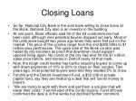 closing loans