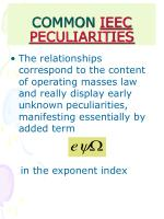 common ieec peculiarities