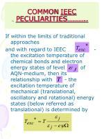 common ieec peculiarities2