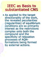 ieec as basis to substantiated cns