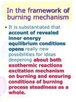 in the framework of burning mechanism
