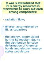 it was substantiated that bl s energy resources is worthwhile to carry out each among components