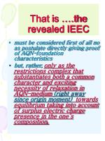 that is the revealed ieec