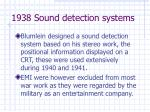 1938 sound detection systems