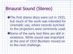 binaural sound stereo